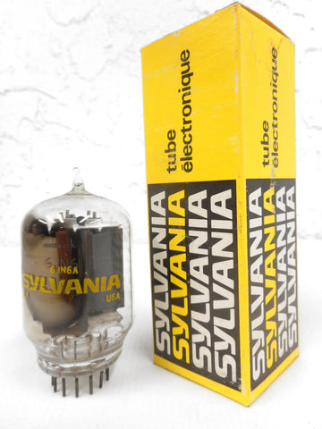 Vintage Sylvania 6JN6A Glass Radio Vacuum Tube Bulb, Original Box, New Old Stock NOS