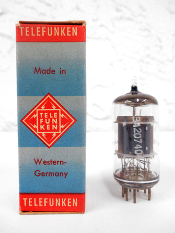 Vintage Telefunken SBL8 (ECF80) Glass Radio Vacuum Tube Bulb, Original Box, New Old Stock NOS