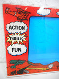 Original 1976 Plexiglas Arcade Game Machine Monitor Bezel, BiPlane Game by Fun Games Inc., 27 X 17 inches, WWI Airplanes, Canons