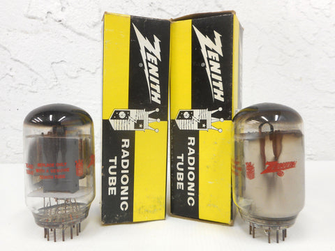 2 Vintage Zenith Radiotron Electron Vacuum Tubes Bulbs 10JA5, Original Boxes, New Old Stock NOS, For Vintage Radios and Televisions