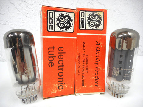 2 Vintage GE General Electric Vacuum Tubes Bulbs 6HV5A, Original Box, New Old Stock NOS, For Vintage Radios and Televisions