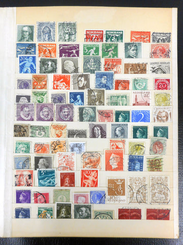1920-1960's Estate Stamp Collection from Netherlands 80+ Lot, 1928 Olympics, Hubert Levigne, Watermarked