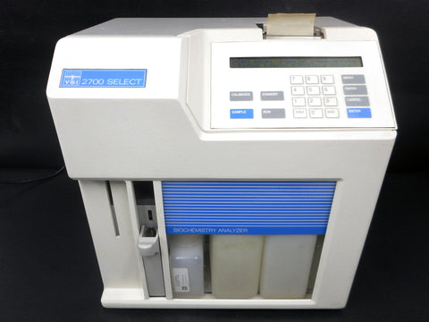 YSI 2700 Select Biochemistry Analyzer Model 2700TX-D, Single/Dual-Channel, Complete with Original Bottles, Yellow Springs Instrument Ohio