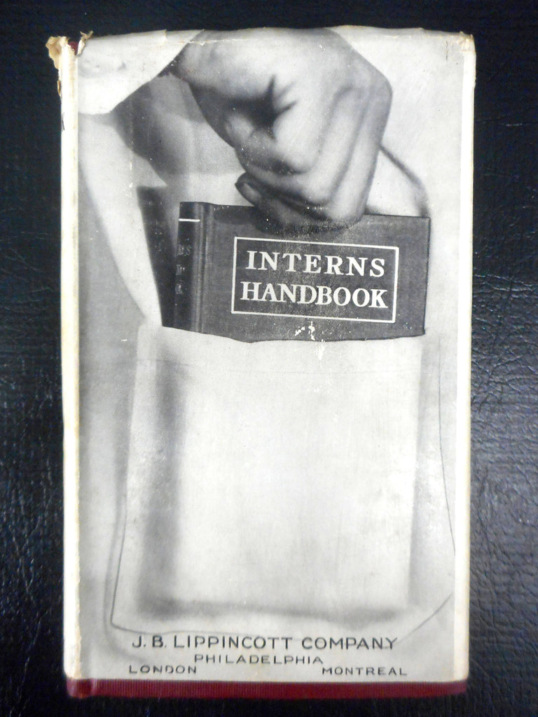 Vintage 1929 Medical Doctors Interns Hand Book by Dooley, Autopsies, Diagnostic, Drug Therapy, Clinical Procedures, Diets