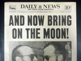 1965 New York Daily News Newspaper, Bring On The Moon Vol. 47 No 56, Apollo Astronauts Conrad and Cooper 8 Days Orbit Around the Earth