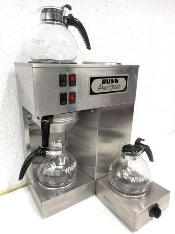 Vintage 1980's Bunn Pour-Omatic Stainless Coffee Maker Machine 3 Warmers, Retro Delicatessen Diner Restaurant Coffee Machine, Ready to Use