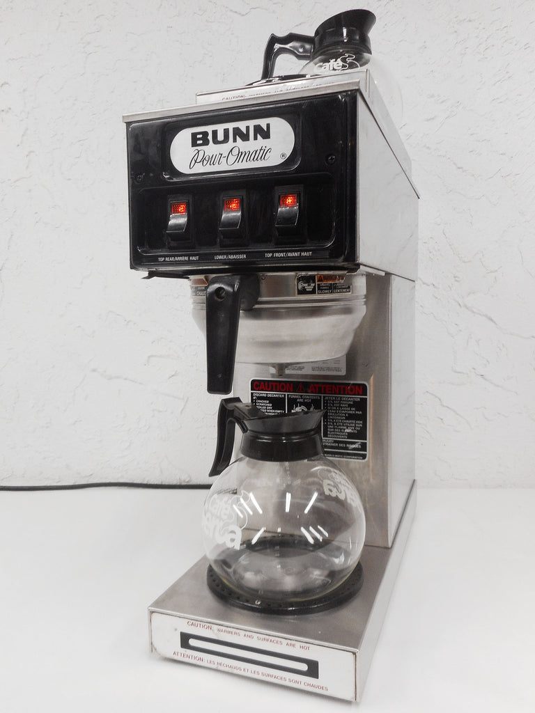 Vintage 1985 Bunn Pour-Omatic Stainless Coffee Maker Machine 3 Warmers, Retro Delicatessen Diner Restaurant Coffee Machine, Ready to Use