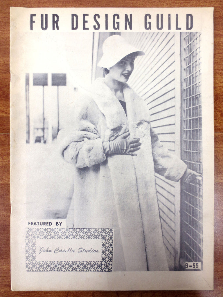 Vintage 1955 Fur Revue Magazine, Design Guild by John Casella New York, Mid-Century Fur Coat Fashion Advertisement, Order Book, 28 pages