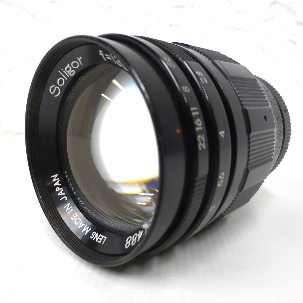 Vintage Soligor f=135mm 1:2.8 Camera Lens Zoom, Mount Marked N-1F, Made in Japan