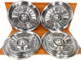 "4 Original Ford Mercury Meteor 1957 1958 1959 Car Rim Wheel Hub Cap Covers 14"", Dog Dish, Car Restoration, Man Cave Wall Hangers"