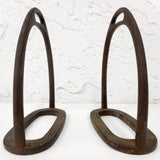 "Antique Victorian 1900's Brass Side Saddle Stirrups signed Whippy & Co 5 3/4"" Tall, Made in London England, Matching Pair, Ready to Ride"