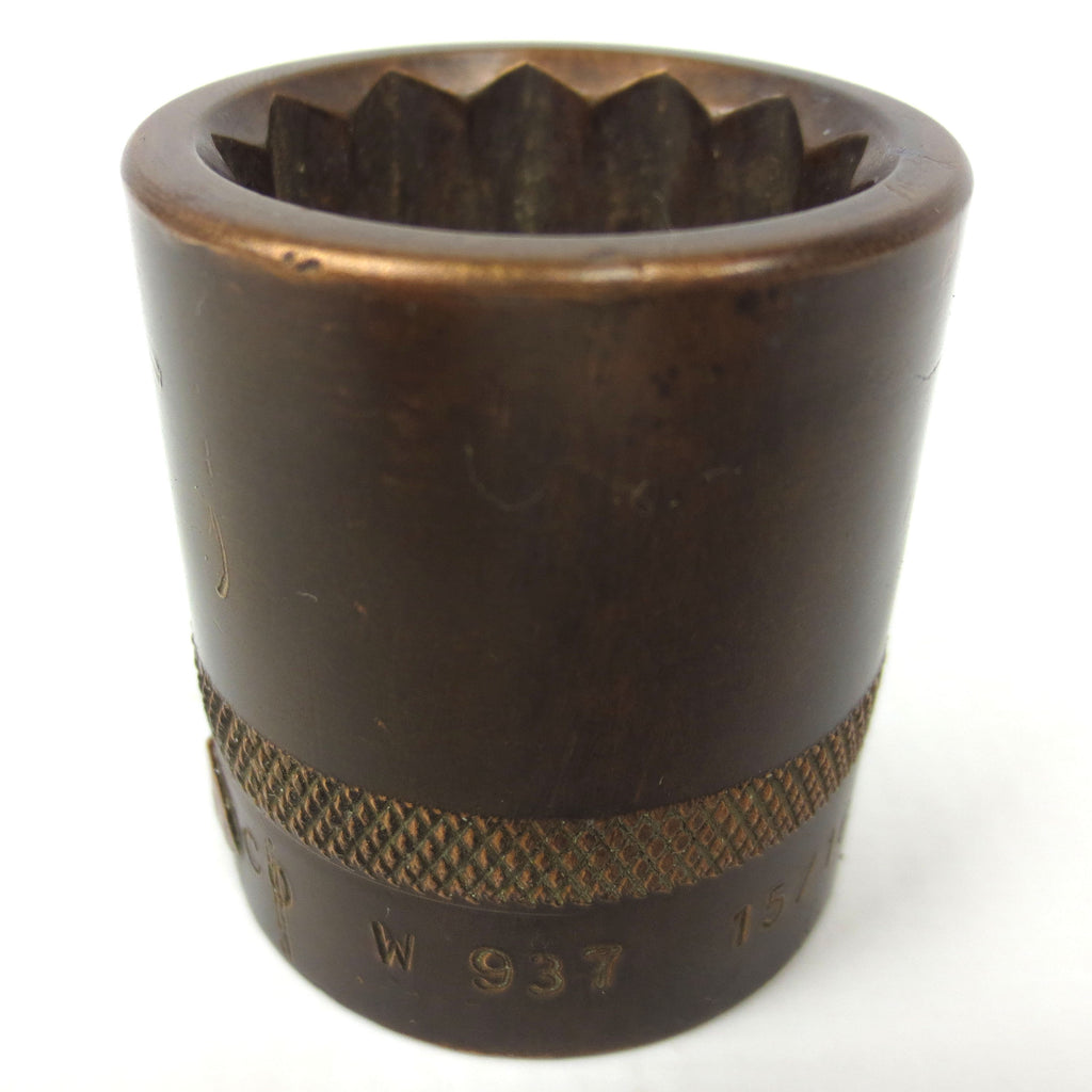 "Vintage Berylco Becu Beryllium Copper 15/16 Deep Socket with 1/2"" Drive Model W937, Non Spark, Non Magnetic"