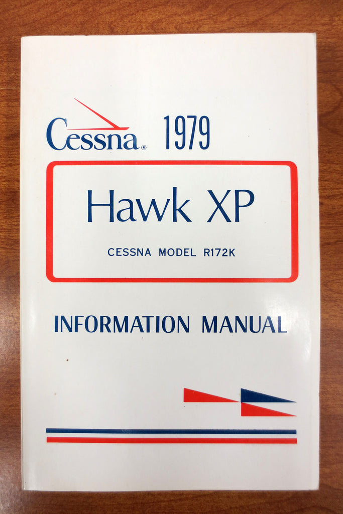 Vintage 1979 Cessna Airplane Pilots' Manual, Cessna Hawk XP Model R172K, 200 pages, Illustrated