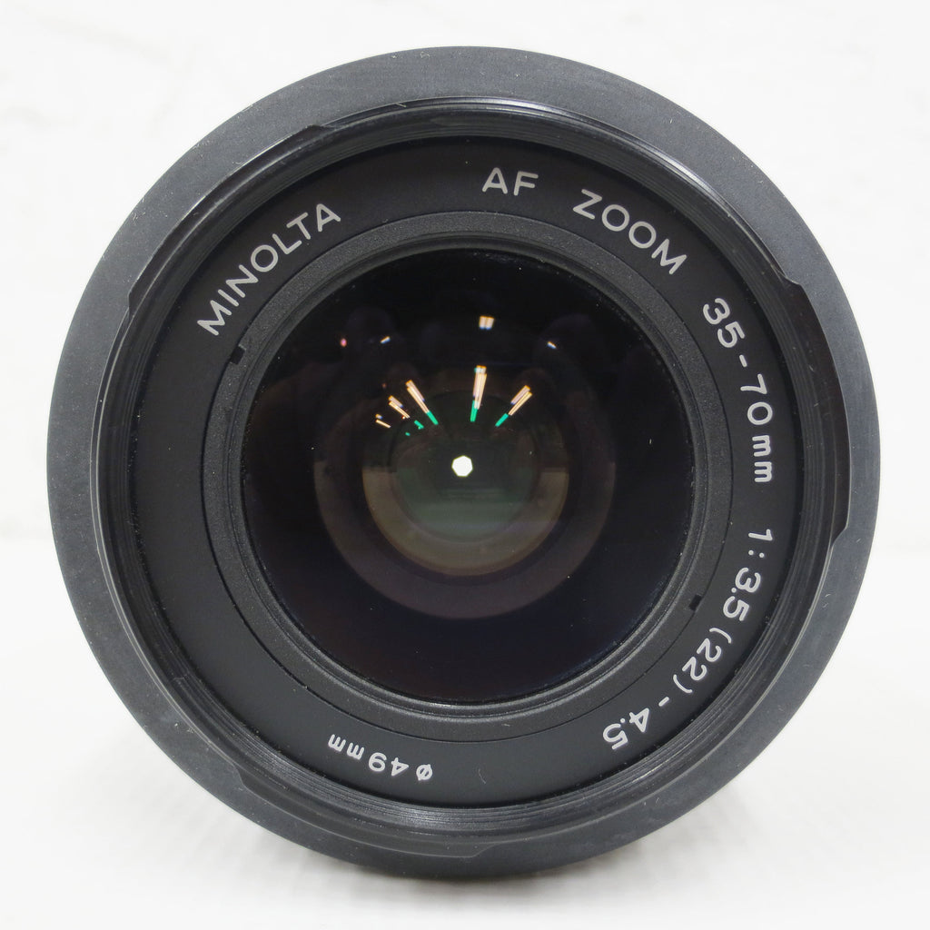 Vintage Minolta AF Zoom Lens A mount, 35-70mm f/3.5(22)-4.5, Serial 61332997, Made in Japan