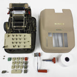 Vintage Manual Adding Machine Calculator by Monro Orange New Jersey, Made in Germany, Green & Red Keys, Model 811 H 14