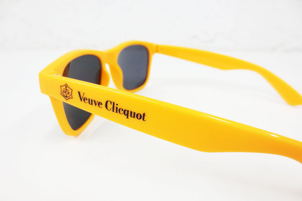 "Vintage Veuve Clicquot Ponsardin Champagne Advertising Sunglasses, 5 3/4"" Wide, 1 7/8"" Tall, Comfortable, Like New"