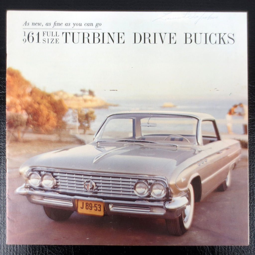 1961 Buick LeSabre and Electra 225 Turbine Drive Car Brochure Booklet Advertising, 11 pages