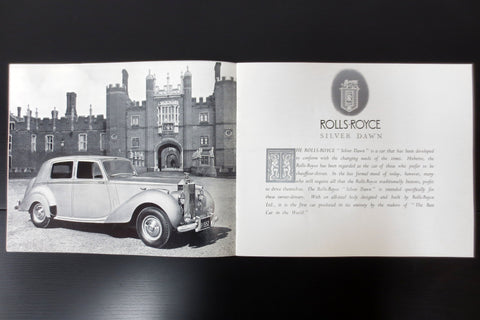 Original 1976 Rolls-Royce Silver Dawn Car Brochure Booklet Advertising 8 pages, 9 3/4 X 8""