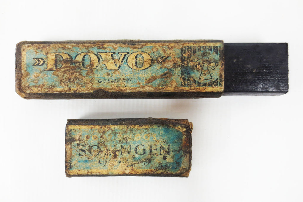 Antique Solingen Dovo Germany Straight Razor Box, Barber Razor Collector's Box, Angel Emblem