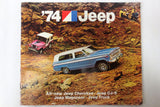 1974 Jeep Cherokee, CJ-5, Wagoneer and Jeep Truck Car Brochure Booklet Advertising 27 pages