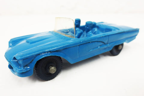 1950's Blue Convertible Toy Rubber Car w/ Dog, Tomte Laerdal Stavanger Norway