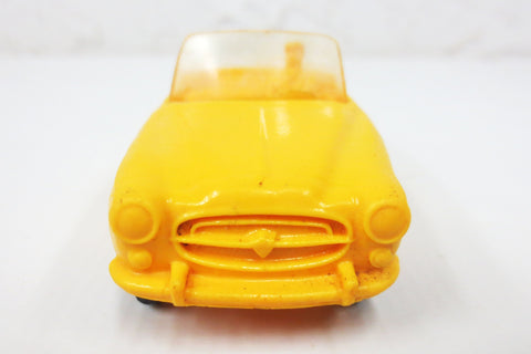 1950's Yellow Convertible Toy Rubber Car Limo, Tomte Laerdal Stavanger Norway