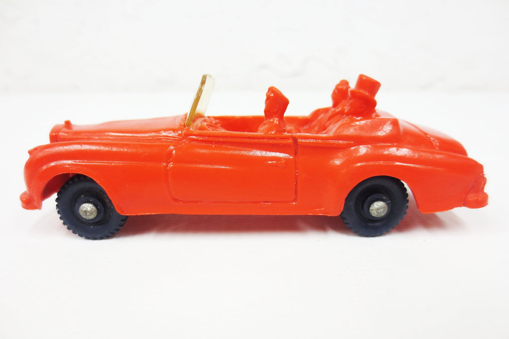 1950's Red Convertible Rolls-Royce Limo Toy Rubber Car, Tomte Laerdal Stavanger Norway