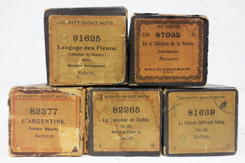 5 Vintage Piano Rolls, Infernal Hunt, Rubis Cascade, Flower Song, Night Silence