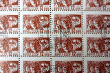 Russia 1966 Sheet of 100 Stamps 12 KON Noyta CCCP, Russian Worker