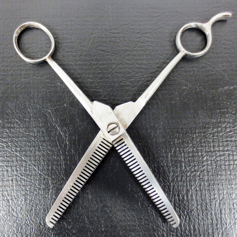Vintage Solingen Barber Salon Thinning Scissors for Hairdressing, #902 Lamplough