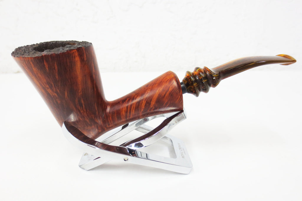 "Vintage Erik Nordig Denmark Rustic Estate Tobacco Pipe 2.5"" Tall Bowl, Freehand"