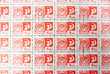 Russia 1966 Sheet of 100 Stamps 4 KON Noyta CCCP, Coat of Arms of the USSR, Mint