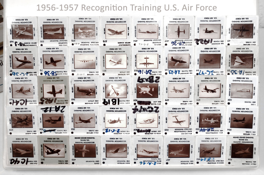 40 Military Army Aircraft Slides 1956 US Air Force Navy Recognition Training