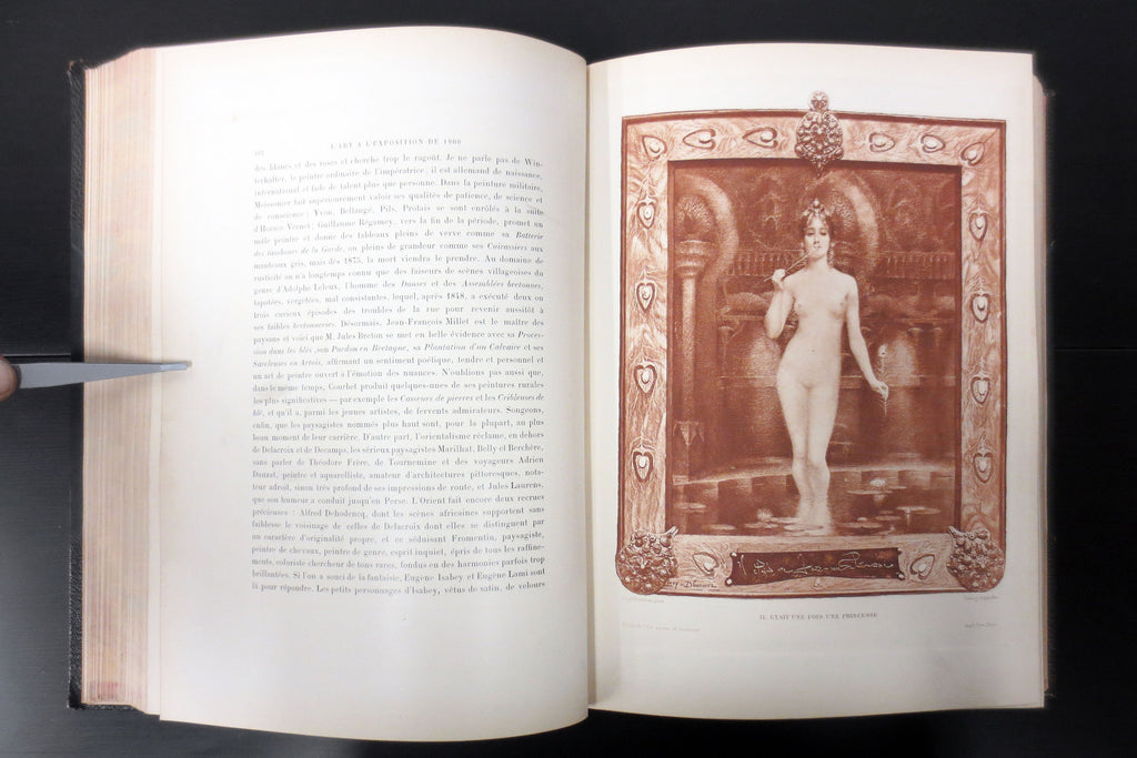 Antique 1900 Paris Exhibition Exposition Universelle Artwork Book 100+ Engravings