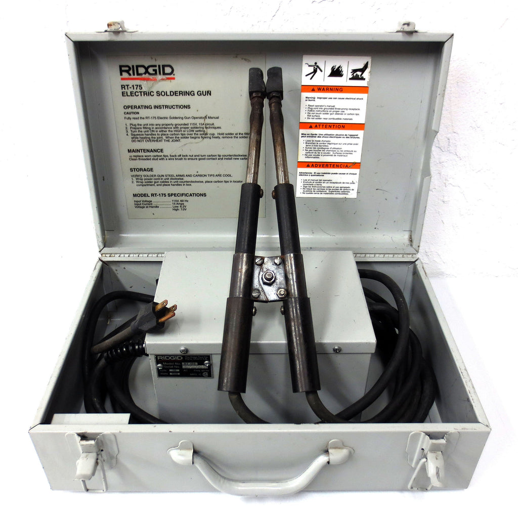Ridgid RT-175 Electric Soldering Gun 115V with Case, Copper Tube Joints up to 3""