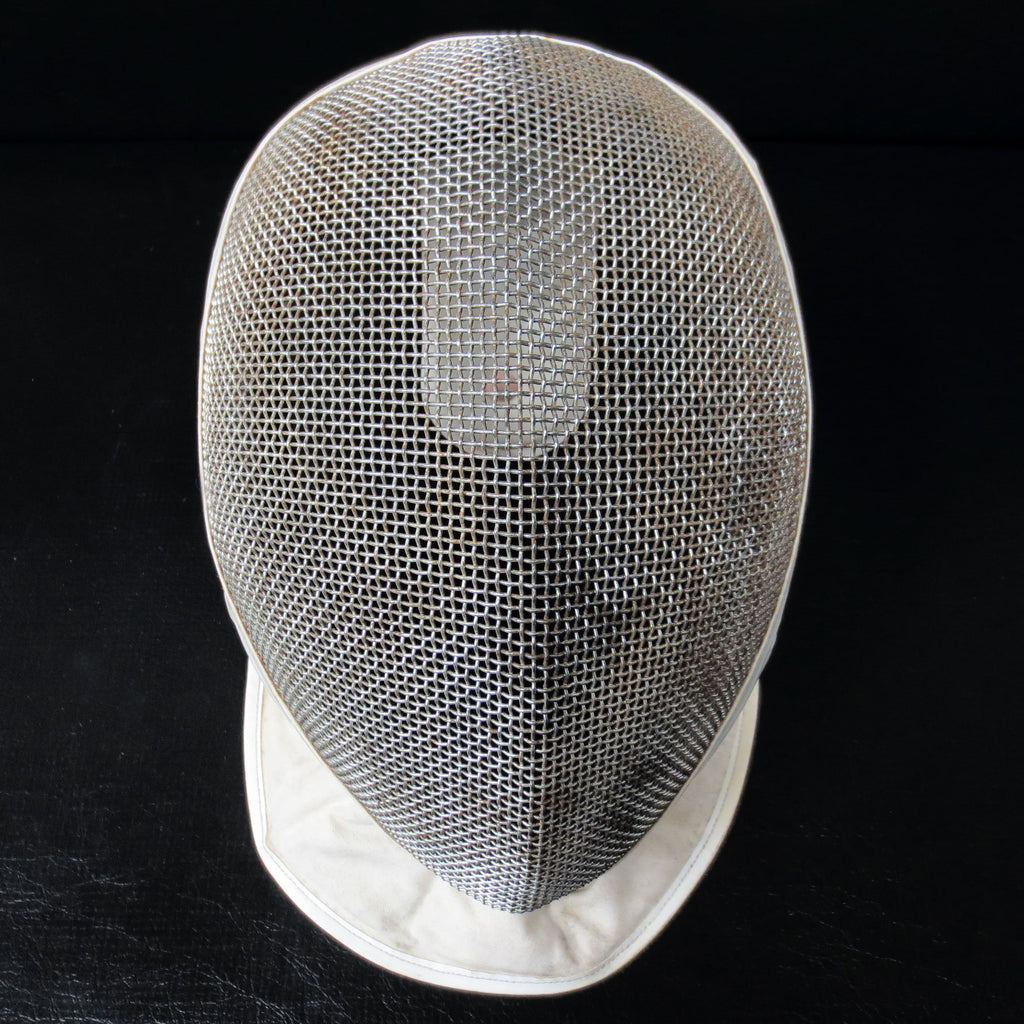 Vintage Leon Paul Fencing Face Mask Helmet Guard, Medium Size, Metal Mesh, White