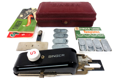 Singer Buttonholer 160743, Vintage 1950's Sewing Machine w/ 8 Templates & Manual