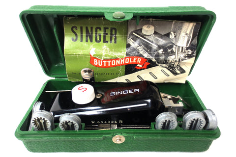 Singer Buttonholer 160506, Vintage 1950's Sewing Machine Attachment with Manual
