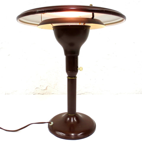 Vintage Mid Century Drafting Lamp Signed Wheeler Sight Light, Flying Saucer UFO