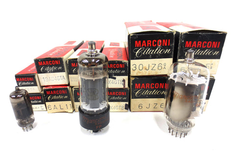 12 New Old Stock NOS Marconi Citation Radiotron Vacuum Tubes