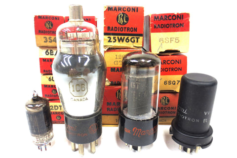 14 New Old Stock NOS Marconi Radiotron Vacuum and Electron Tubes