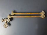 "Antique Victorian Brass Gas Lamp Light Arm 20"", Ornate Swivel Oil Lamp Fixture"
