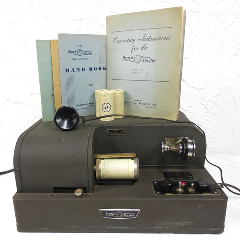 Vtg 1949 Watchmaker Calibrator Tool Machine, Watch Master, American Time