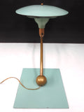 Vintage Art Deco Lamp by Wheeler Sight Light, Flying Saucer UFO, Swivels 360