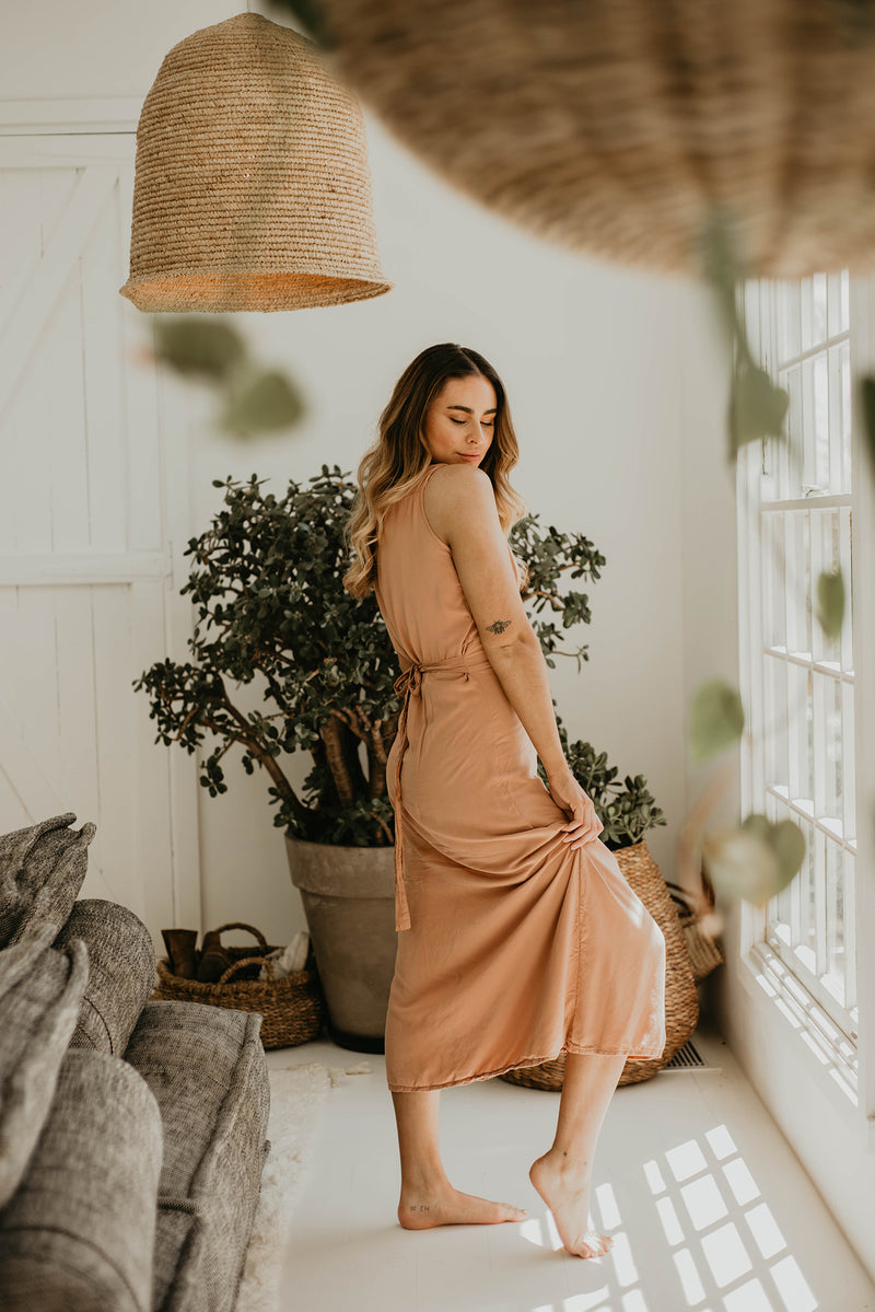 The Summer Solstice  Dress - Nutmeg