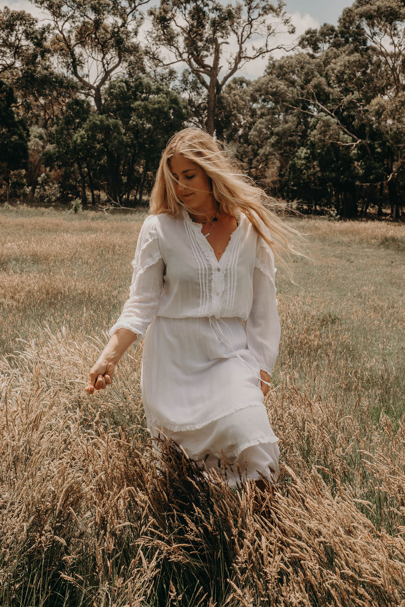 The State of Bliss Dress - White