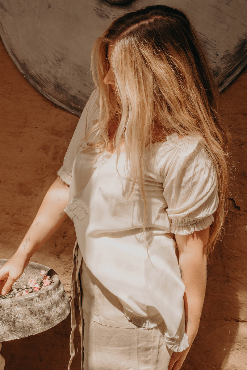 The Sea Breeze Blouse - Pearl