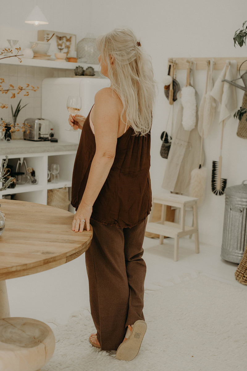 The Heartstrings Camisole - Chocolate
