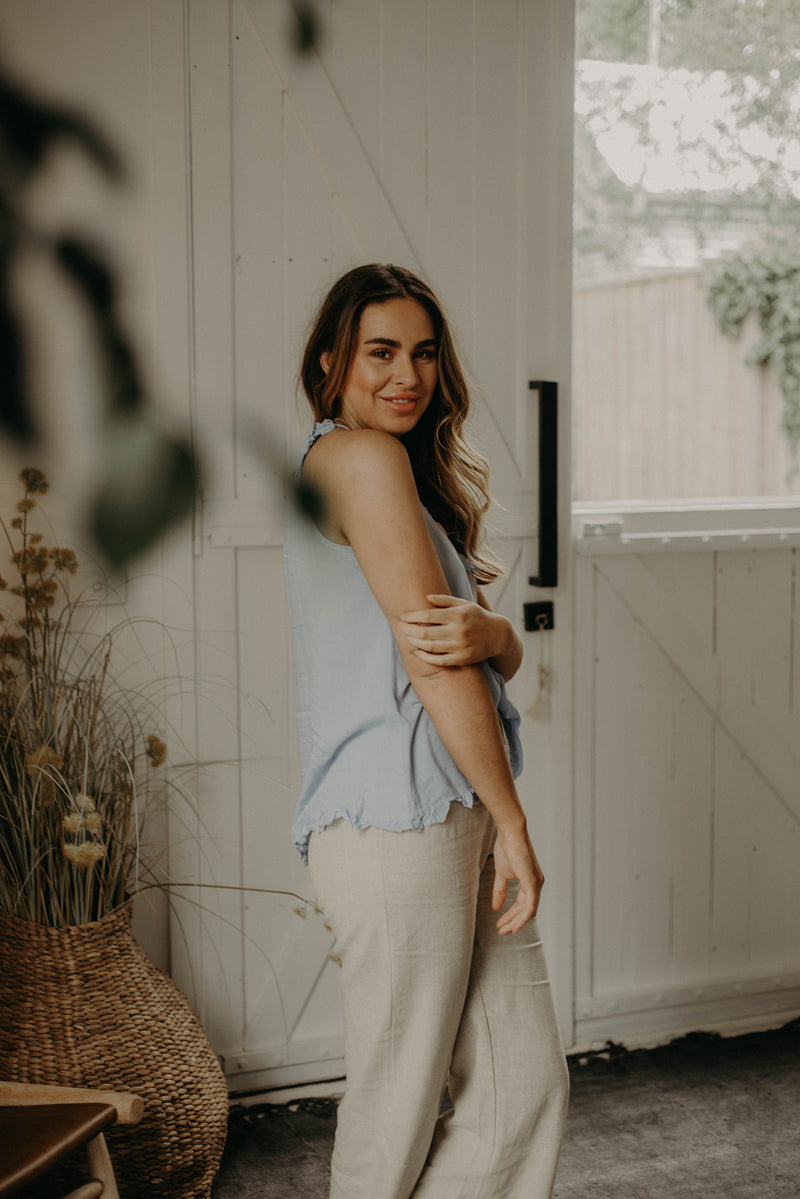 The Heartstrings Camisole- Bluebird