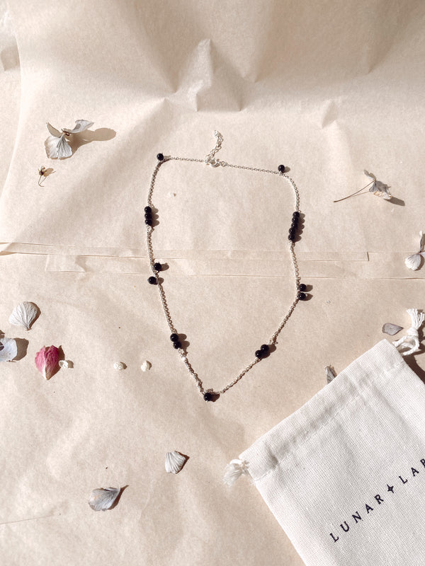 Crystal Cure Necklace 'Spark Strength' - Onyx